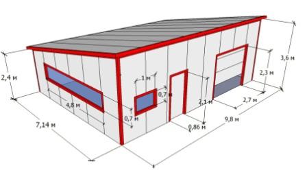 Продажа готовых гаражей из сэндвич панелей купить гараж губкинский янао
